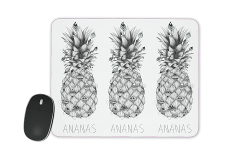 tapis de souris ananas en noir et blanc white sacs accessoires. Black Bedroom Furniture Sets. Home Design Ideas