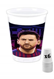 Pack of 6 Cups Legendary Goat Football