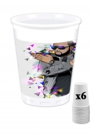 Pack of 6 Cups Maitre Gims - zOmbie
