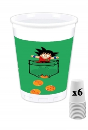 Pack of 6 Cups Pocket Collection: Goku Dragon Balls