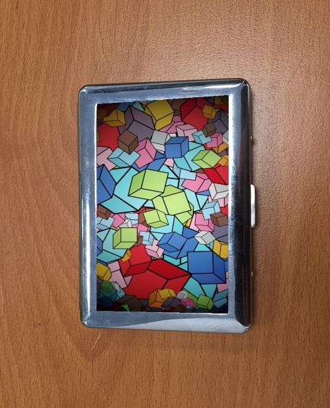 Cigarette holder Abstract Cool Cubes