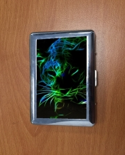 Porte Cigarette Abstract neon Leopard