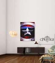 Art Print American Shield Blue