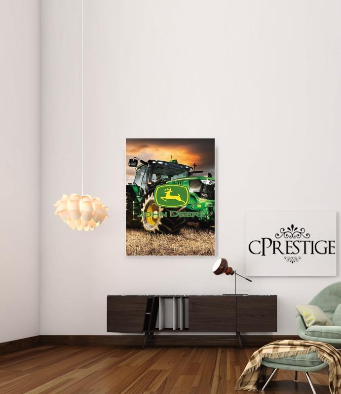 John Deer tractor Farm for Art Print Adhesive 30*40 cm