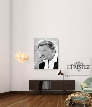 Poster johnny hallyday Smoke Cigare Hommage