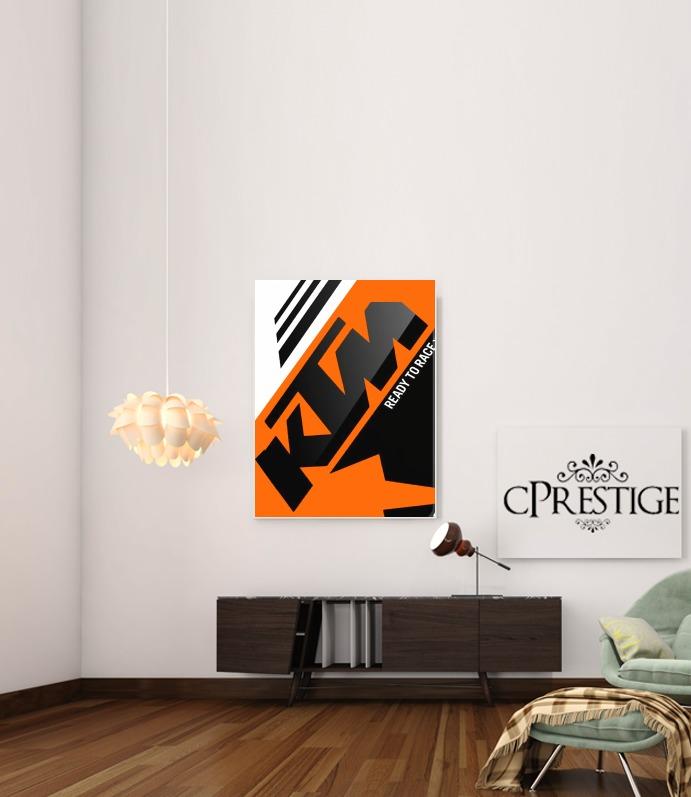 KTM Racing Orange And Black for Art Print Adhesive 30*40 cm