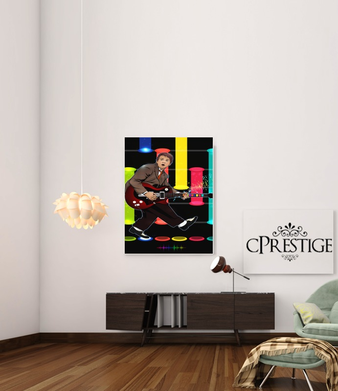 Art Print Marty McFly plays Guitar Hero