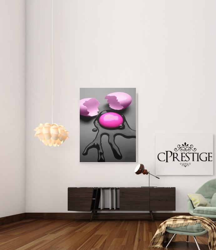 Pink Egg for Art Print Adhesive 30*40 cm