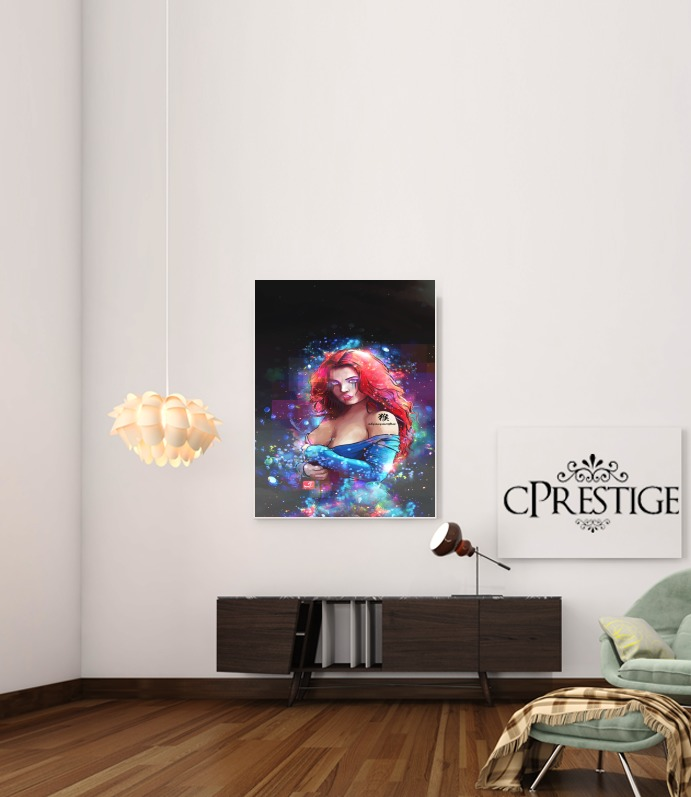 Art Print Red Fantasy