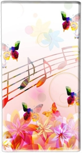 Musical Notes Butterflies für Tragbare externe Backup-Batterie 5000 mah Micro-USB