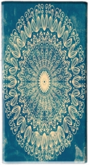 Mini Powerbank Micro USB Emergency External Battery 1720 mAh BLUE ORGANIC BOHO MANDALA