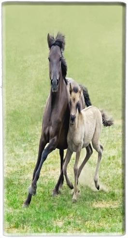 Horses, wild Duelmener ponies, mare and foal voor draagbare externe back-up batterij 5000 mah Micro USB