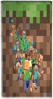 Mini batterie externe de secours micro USB 5000 mAh Minecraft Creeper Forest