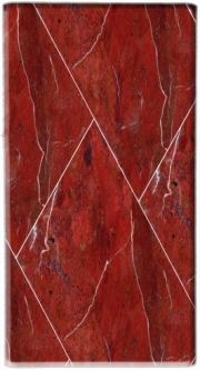 Mini Powerbank Micro USB Emergency External Battery 1720 mAh Minimal Marble Red