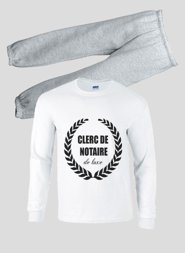 Idee Cadeau Luxe Pajamas kids Clerc de notaire Edition de luxe idee cadeau white   Kids
