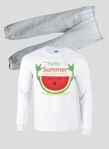 Pyjama enfant Summer pattern with watermelon