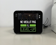 Radio réveil Un Geek ne vieillit pas il level up
