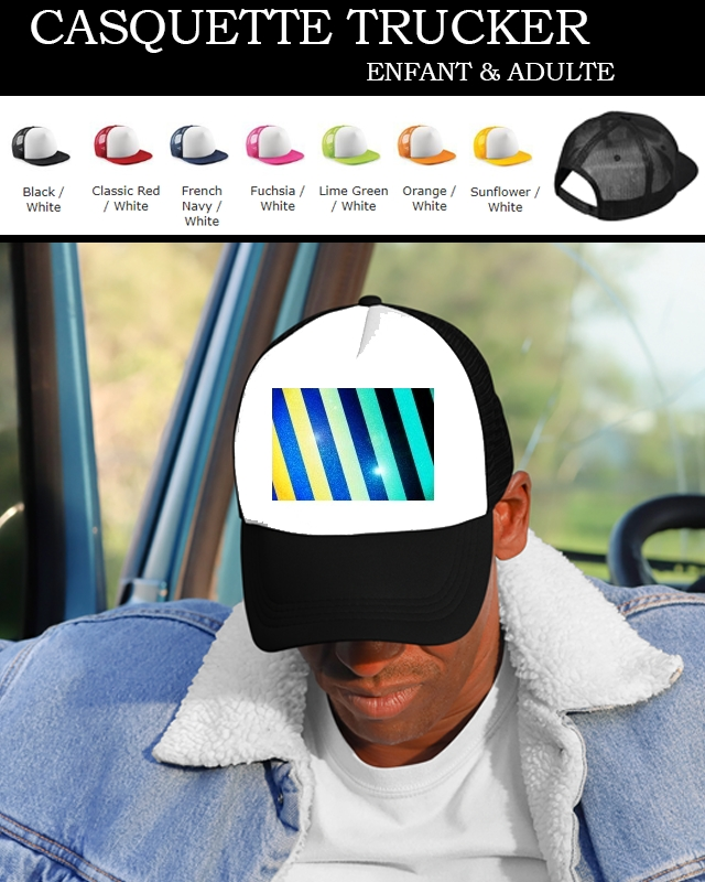 Snapback Cap Striped Colorful Glitter