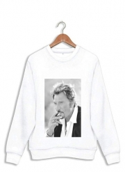 Sweatshirt johnny hallyday Smoke Cigare Hommage