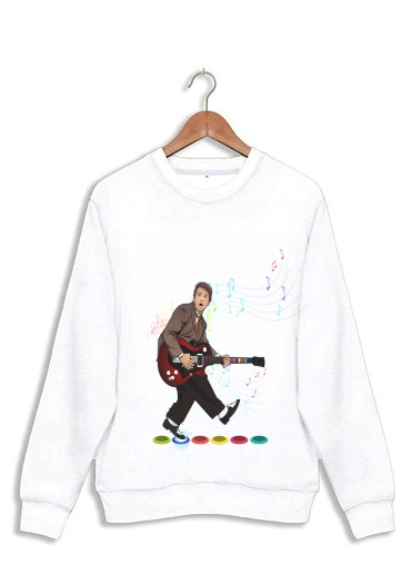 Sweatshirt Marty McFly plays Guitar Hero
