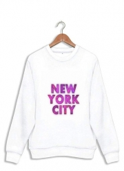 Sweatshirt New York City Broadway - Couleur rose