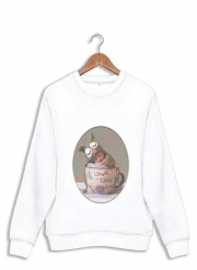 Sweatshirt Painting Baby With Owl Cap in a Teacup