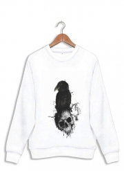 Sweatshirt Raven and Skull