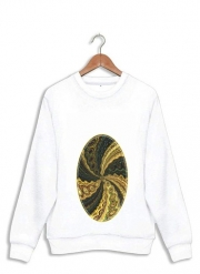 Sweatshirt Twirl and Twist black and gold