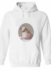Hoodie Painting Baby With Owl Cap in a Teacup