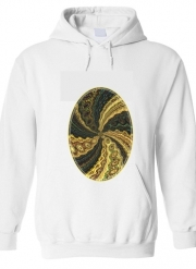 Hoodie Twirl and Twist black and gold