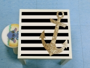 Table basse gold glitter anchor in black
