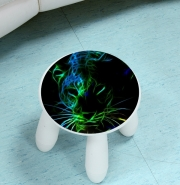 Tabouret enfant Abstract neon Leopard