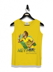 Kid Tank Top Football Stars: Neymar Jr - Brasil