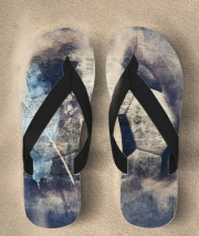 Tongs Abstract Blue Grunge Soccer