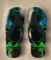 Tongs Abstract neon Leopard