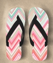 Tongs colorful chevron in pink