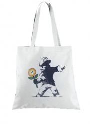 Tote Bag - Sac Banksy Flower bomb