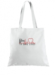 Tote Bag - Sac Beautiful Day to save life
