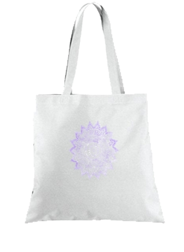 Tote Bag - Sac BOHEMIAN FLOWER MANDALA IN PURPLE