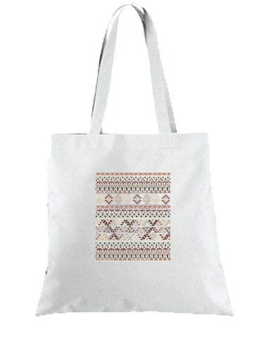 Tote Bag - Sac BROWN TRIBAL NATIVE