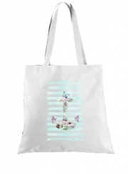 Tote Bag  Sac Floral Anchor in mint