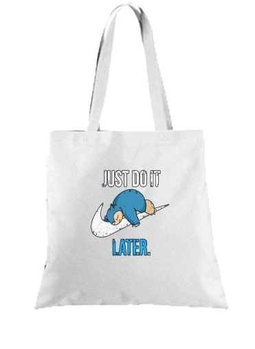 Tote Bag  Sac Nike Parody Just do it Late X Ronflex