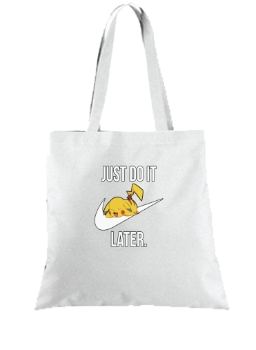 Tote Bag  Sac Nike Parody Just Do it Later X Pikachu