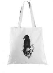 Tote Bag  Sac Raven and Skull