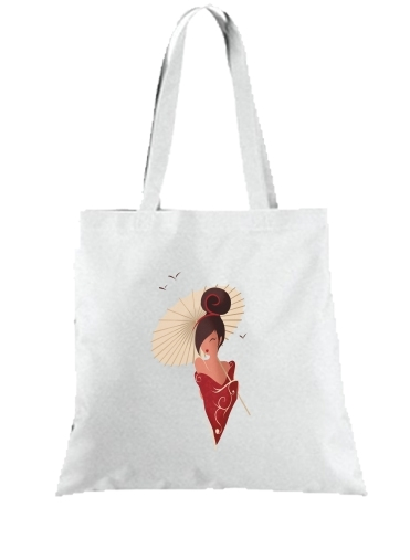 Tote Bag  Sac Sakura Asian Geisha