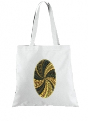Tote Bag Twirl and Twist black and gold
