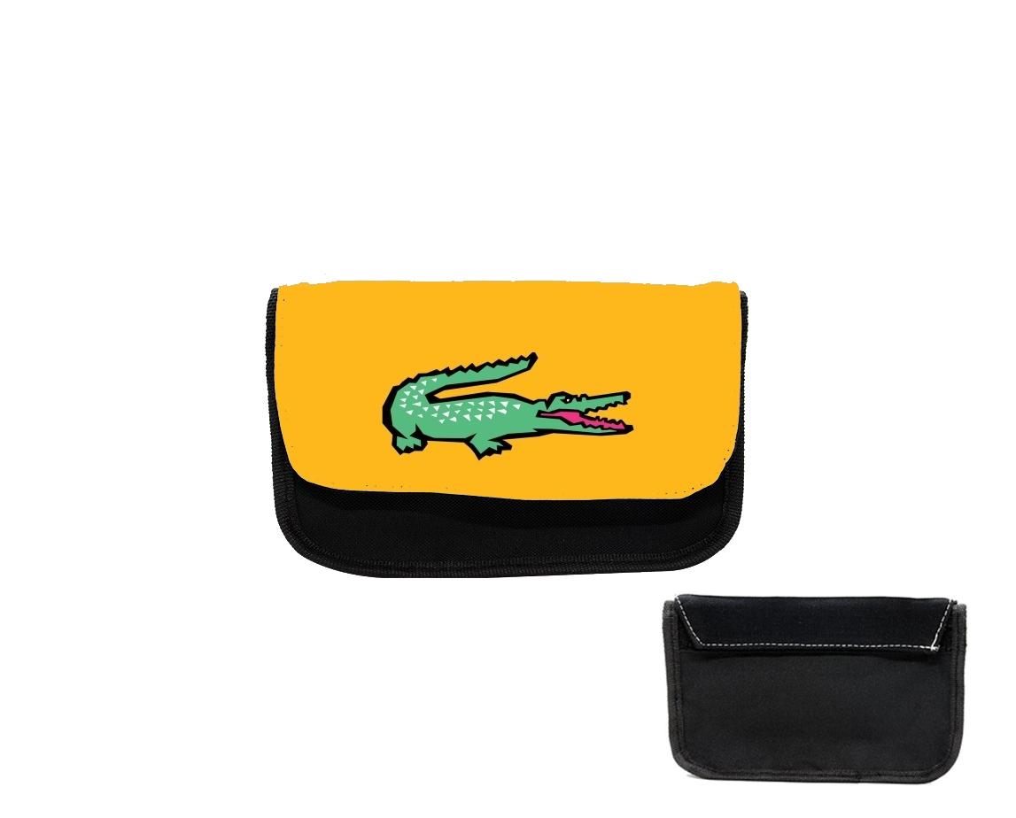 pencil case alligator crocodile lacoste white bags accessories