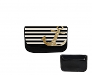Trousse gold glitter anchor in black