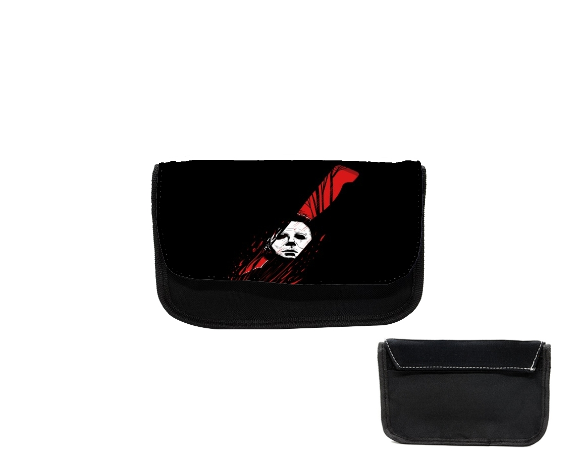 pencil case hell o ween myers knife white bags accessories