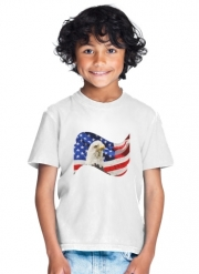T-Shirt Garçon American Eagle and Flag